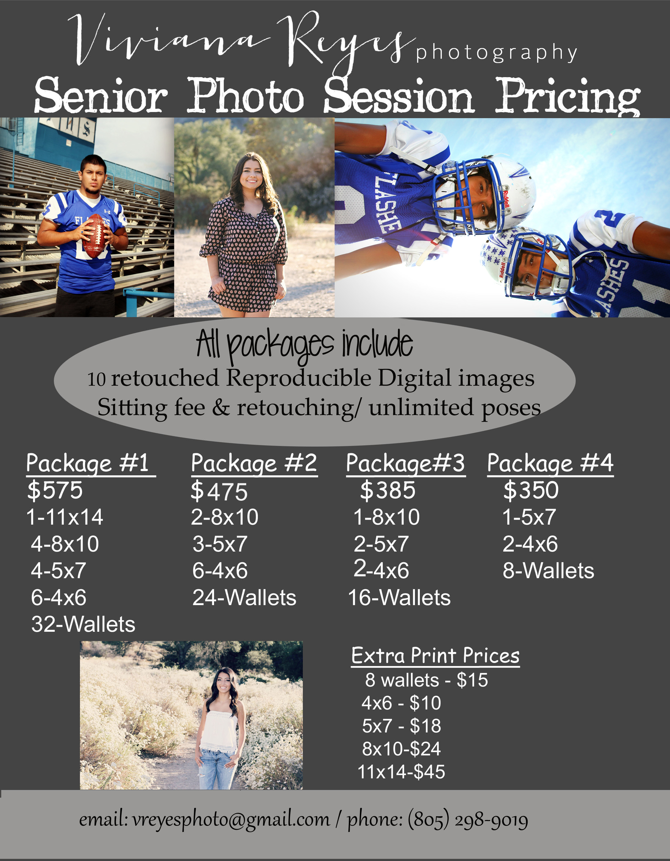 Pricing Information – Portrait & Event Photography